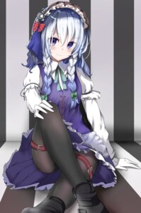 Rating: Questionable Score: 52 Tags: garaudoon garter izayoi_sakuya maid pantyhose touhou User: hiroimo2