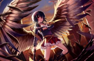 Rating: Safe Score: 51 Tags: cleavage gun kin_toki wings User: Mr_GT
