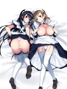 Rating: Questionable Score: 65 Tags: areola ass breast_hold breasts hima maid no_bra open_shirt pantsu skirt_lift stockings thighhighs thong User: kiyoe