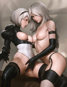 Rating: Explicit Score: 117 Tags: breasts fingering leotard mecha_musume naked nier_automata nipples no_bra pussy pussy_juice tarakanovich thighhighs uncensored yorha_no.2_type_b yorha_type_a_no._2 yuri User: Anonymous
