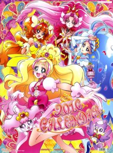 Rating: Questionable Score: 8 Tags: akagi_towa amanogawa_kirara aroma_(precure) calendar dress go!_princess_pretty_cure haruno_haruka heels kaidou_minami pretty_cure puff_(precure) User: drop