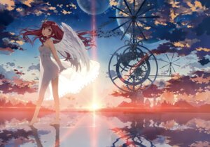 Rating: Safe Score: 175 Tags: 5_nenme_no_houkago dress kantoku kurumi_(kantoku) landscape see_through wings User: Hatsukoi