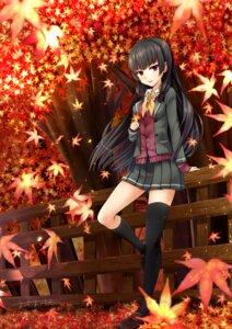 Rating: Safe Score: 29 Tags: isokaze_(kancolle) kantai_collection omoomomo seifuku sweater thighhighs User: Mr_GT