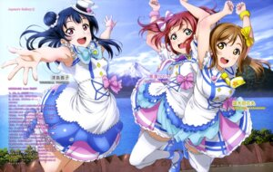 Rating: Safe Score: 52 Tags: dress heels kunikida_hanamaru kurosawa_ruby love_live!_sunshine!! murota_yuuhei thighhighs tsushima_yoshiko User: drop