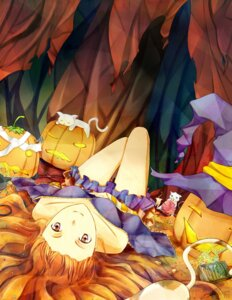 Rating: Safe Score: 15 Tags: halloween kuryuki neko witch User: eridani