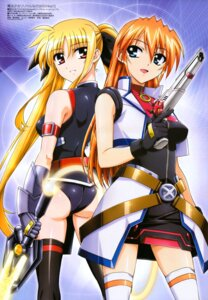 Rating: Safe Score: 28 Tags: ass dress fate_testarossa gun leotard mahou_shoujo_lyrical_nanoha mahou_shoujo_lyrical_nanoha_strikers okuda_yasuhiro sword teana_lanster thighhighs User: 18183720