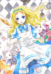 Rating: Safe Score: 10 Tags: alice alice_in_wonderland cheshire_cat dress sorayami white_rabbit User: Radioactive