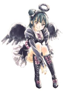 Rating: Safe Score: 20 Tags: gothic_lolita lolita_fashion love_live!_sunshine!! tsushima_yoshiko wings User: saemonnokami