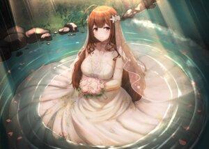Rating: Safe Score: 29 Tags: aiban dress kuwayama_chiyuki no_bra see_through the_idolm@ster the_idolm@ster_shiny_colors wedding_dress wet User: Arsy