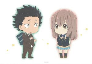 Rating: Safe Score: 31 Tags: chibi ishida_shouya koe_no_katachi nishimiya_shouko seifuku sweater User: yswysc