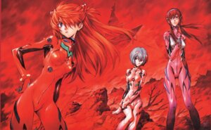 Rating: Safe Score: 47 Tags: ayanami_rei bodysuit makinami_mari_illustrious megane neon_genesis_evangelion sadamoto_yoshiyuki souryuu_asuka_langley User: Radioactive