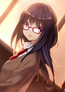 Rating: Safe Score: 35 Tags: megane nana_mikoto seifuku User: Radioactive