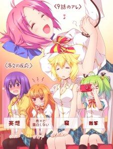 Rating: Safe Score: 28 Tags: amatsuka_mao amatsuka_megumi cleavage gj_bu hatomugi_(hato6g) kannazuki_tamaki kirara_bernstein pantyhose seifuku sumeragi_shion User: fairyren
