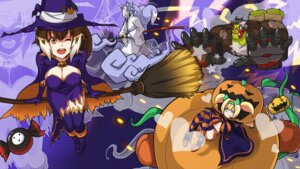 Rating: Safe Score: 26 Tags: animal_ears blazblue cleavage dress hakumen halloween iron_tager makoto_nanaya platinum_the_trinity purinnssu tail thighhighs wallpaper witch User: Mr_GT