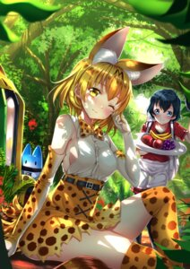 Rating: Safe Score: 40 Tags: animal_ears kaban_(kemono_friends) kemono_friends serval swordsouls tail thighhighs User: Mr_GT