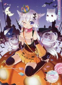 Rating: Questionable Score: 47 Tags: animal_ears chiba_sadoru cleavage halloween thighhighs User: crim