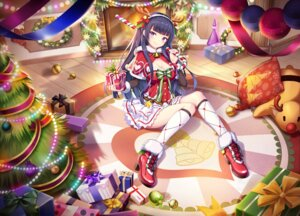 Rating: Questionable Score: 24 Tags: christmas cleavage drogoth heels horns User: sym455