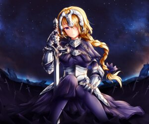 Rating: Safe Score: 19 Tags: armor fate/grand_order jeanne_d'arc jeanne_d'arc_(fate/apocrypha) pantyhose sword wsman User: mash