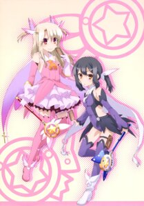 Rating: Safe Score: 26 Tags: fate/kaleid_liner_prisma_illya fate/stay_night garter heels illyasviel_von_einzbern miyu_edelfelt thighhighs weapon User: drop