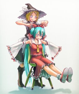 Rating: Safe Score: 36 Tags: cosplay hatsune_miku kagamine_rin touhou vocaloid wokada User: Hughonly