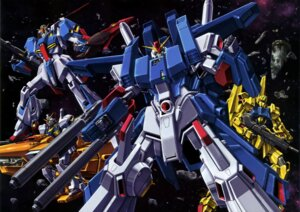 Rating: Safe Score: 9 Tags: gun gundam gundam_mark_ii gundam_zz hyaku_shiki mecha sword weapon zeta_gundam zeta_gundam_(mobile_suit) User: drop