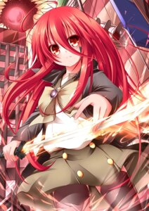 Rating: Safe Score: 27 Tags: seifuku shakugan_no_shana shana sword thighhighs wakagi_repa User: 椎名深夏