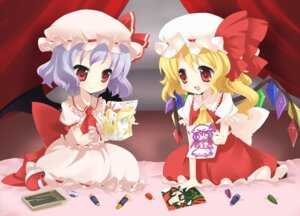 Rating: Safe Score: 15 Tags: chibi flandre_scarlet moorina remilia_scarlet touhou User: Radioactive