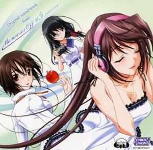 Rating: Safe Score: 7 Tags: cleavage disc_cover dress headphones hina_asuka ichijou_akina koshimizu_takayuki matsuo_yukihiro memories_off memories_off_5 memories_off_5_encore sendou_mahiro User: admin2