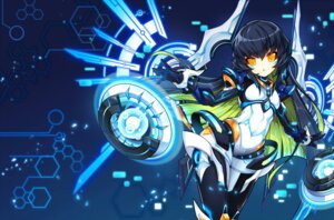 Rating: Safe Score: 31 Tags: bodysuit elsword eve_(elsword) poseich wings User: fairyren