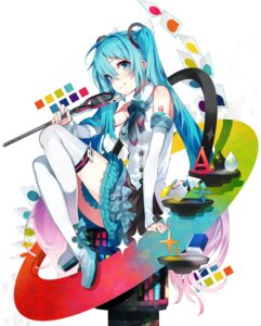 Rating: Safe Score: 41 Tags: hatsune_miku mika_pikazo tattoo thighhighs vocaloid User: Mr_GT