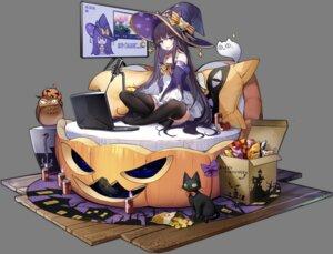 Rating: Questionable Score: 32 Tags: azur_lane dress halloween long_island_(azur_lane) neko ootsuki_momiji skirt_lift thighhighs transparent_png witch User: zyll