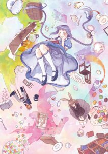 Rating: Safe Score: 15 Tags: alice_in_wonderland amano_tooko animal_ears bloomers bungaku_shoujo bunny_ears cosplay inoue_konoha kotobuki_nanase lolita_fashion takeda_chia urue User: Radioactive