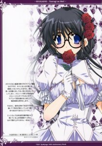 Rating: Safe Score: 16 Tags: cleavage dress lolita_fashion megane ryuuga_shou tsurugi_no_mai! User: MirrorMagpie