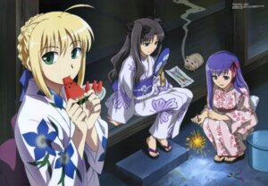 Rating: Safe Score: 29 Tags: emori_mariko fate/stay_night kimono matou_sakura saber toosaka_rin User: Radioactive