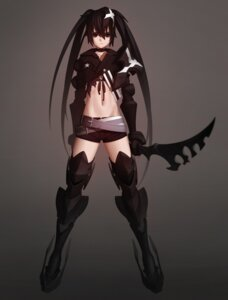 Rating: Questionable Score: 46 Tags: aconitea armor bikini_top black_rock_shooter black_rock_shooter_(character) insane_black_rock_shooter thighhighs vocaloid weapon User: SubaruSumeragi