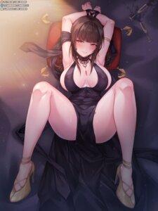 Rating: Questionable Score: 46 Tags: bondage dress dsr-50_(girls_frontline) erect_nipples girls_frontline heels no_bra rebe11 User: BattlequeenYume