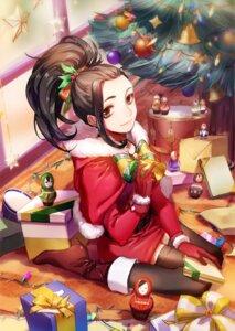 Rating: Safe Score: 16 Tags: boku_no_hero_academia christmas dress heels mozer thighhighs yaoyorozu_momo User: Nepcoheart