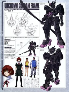 Rating: Safe Score: 9 Tags: cleavage gun gundam gundam_iron-blooded_orphans gyoubu_ippei mecha sketch weapon User: drop