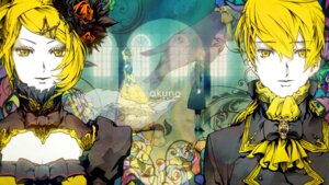 Rating: Safe Score: 7 Tags: aku_no_meshitsukai_(vocaloid) kagamine_len kagamine_rin nagimiso vocaloid wallpaper User: charunetra