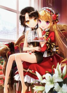 Rating: Safe Score: 145 Tags: aomono cinia_pacifica dress salty sita_vilosa sword_girls User: yong