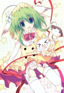 Rating: Safe Score: 40 Tags: animal_ears dress greenwood midori neko stockings thighhighs tsurusaki_takahiro User: midzki