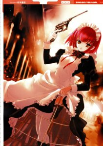 Rating: Safe Score: 18 Tags: gun jpeg_artifacts kuramoto_kaya maid thighhighs User: abdd