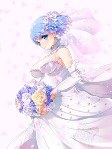 Rating: Safe Score: 25 Tags: dress koflif no_bra re_zero_kara_hajimeru_isekai_seikatsu rem_(re_zero) see_through wedding_dress User: Mr_GT