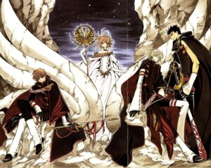 Rating: Safe Score: 18 Tags: clamp fai_d._flourite kinomoto_sakura kurogane li_syaoran tsubasa_reservoir_chronicle User: Radioactive