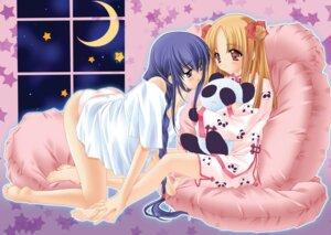 Rating: Questionable Score: 32 Tags: azuma_hatsumi azuma_hazuki carnelian fixed pajama pantsu yami_to_boushi_to_hon_no_tabibito User: petopeto