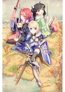 Rating: Safe Score: 33 Tags: armor cleavage dokodemo_dungeon h2so4 island_of_horizon sword thighhighs User: kiyoe