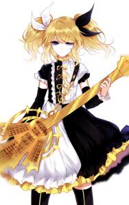 Rating: Safe Score: 28 Tags: dress guitar kagamine_rin meltdown_(vocaloid) sheya thighhighs vocaloid User: charunetra