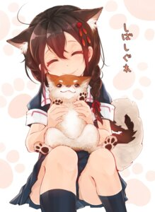 Rating: Safe Score: 52 Tags: animal_ears cointreau kantai_collection seifuku shigure_(kancolle) tail User: fairyren