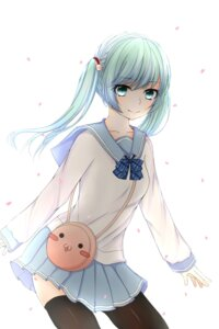 Rating: Safe Score: 16 Tags: hatsune_miku muchiiu seifuku thighhighs vocaloid User: mash