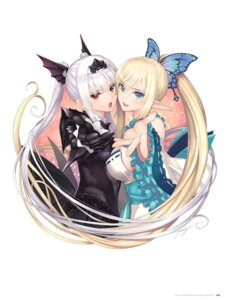 Rating: Questionable Score: 52 Tags: armor cleavage digital_version dress elf excela_noa_aura kirika_towa_alma lolita_fashion no_bra pointy_ears shining_resonance symmetrical_docking tony_taka wa_lolita User: Twinsenzw